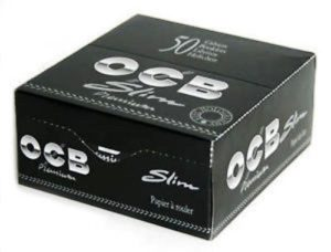 OCB Premium Slim King Size-Noir-Boîte de 50 Paquets de Papier à rouler 2