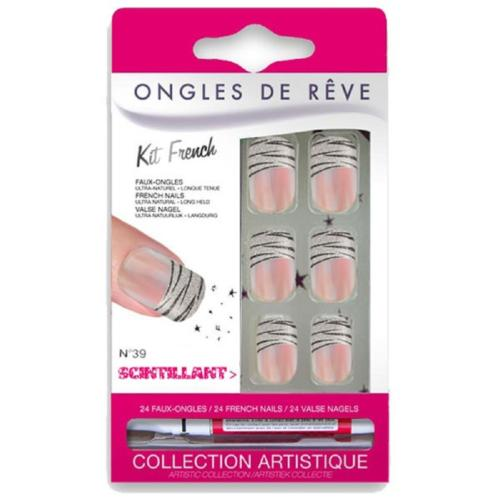 faux-ongles-avec-colle-scintillant N 39